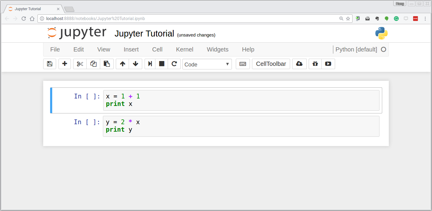 Jupyter notebook tutorial a jupyter notebook is made up of a number of cells each cell can contain python code you can execute a cell by clicking on it and pressing shift enter baditri Gallery